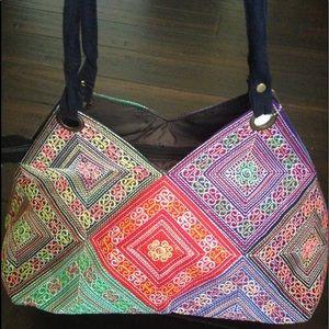 Vintage Boho weaved handbag